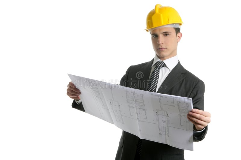 Download Architect Executive Business People With Plans Stock Image - Image: 9109841