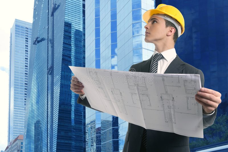 Download Architect Executive Businessman With Plan Stock Photo - Image: 8998986