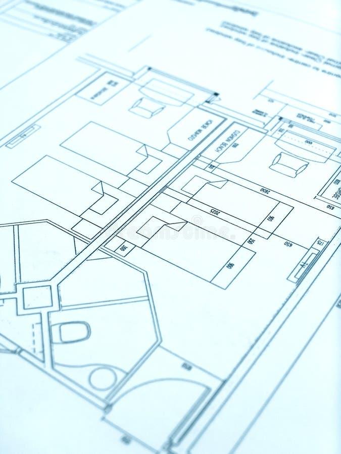 Architect floor plan, hotel construction royalty free stock photos
