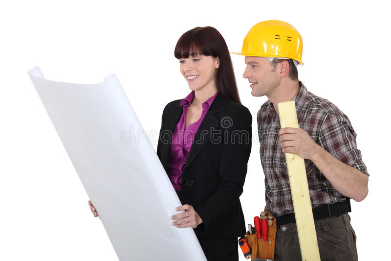 Architect And Foreman Stock Image