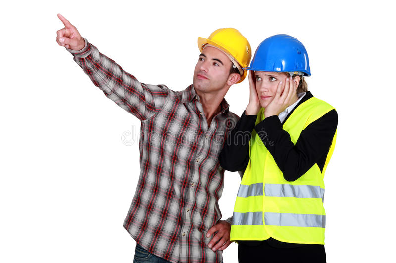 Download Architect and foreman stock image. Image of helmet, document - 28194887