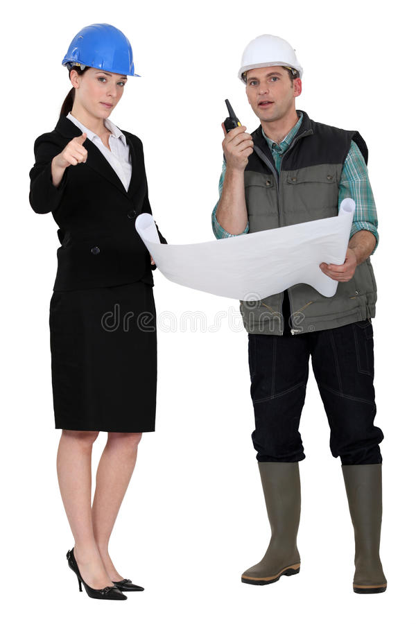 Download Architect And Foreman Making Decisions Stock Image - Image: 27806447
