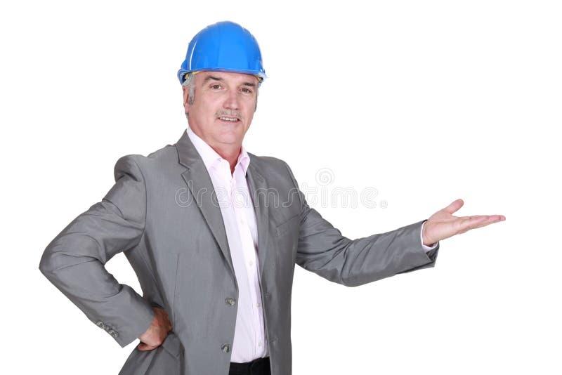 Download Architect gesturing stock photo. Image of helmet, necktie - 30742894