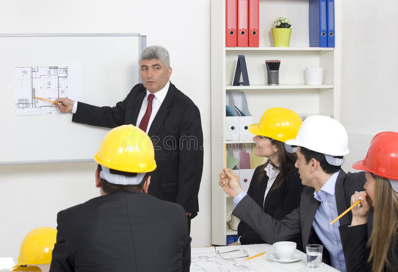 Architect giving presentation royalty free stock images