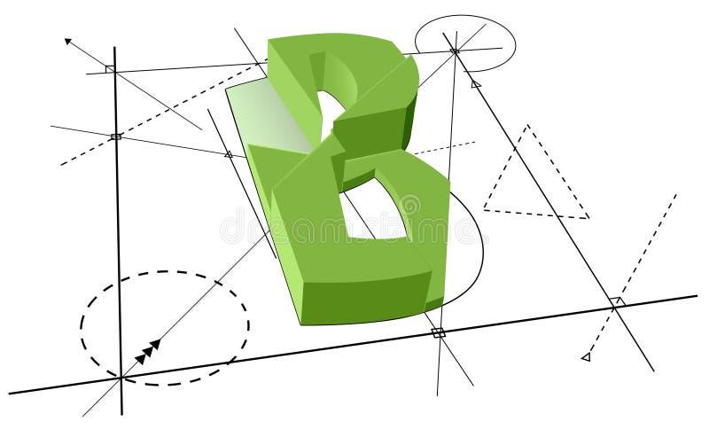 Architect Green Font B stock illustration