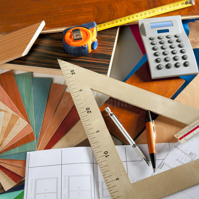 Architect interior designer carpenter royalty free stock photos