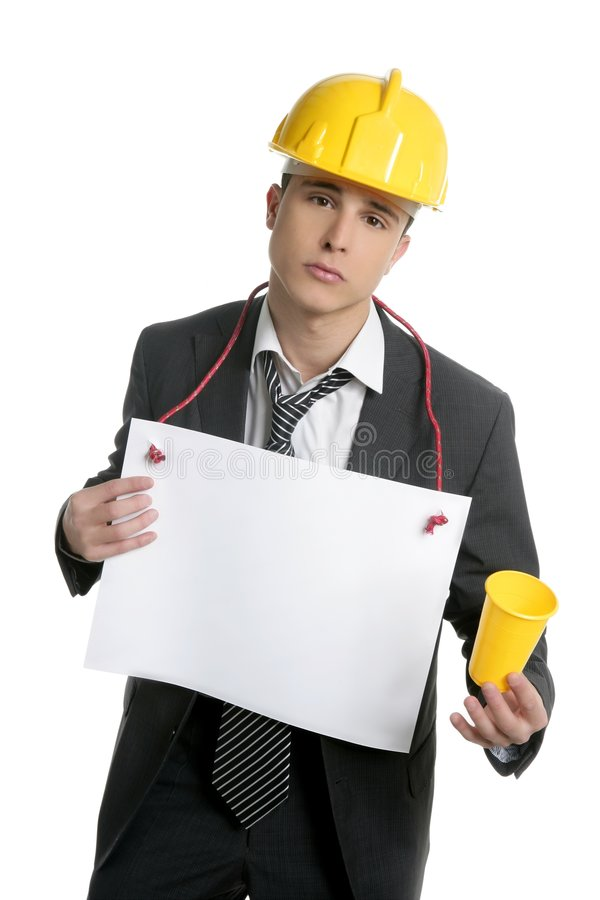 Architect Lost Job Asking For Work, Copy Space Stock Photos