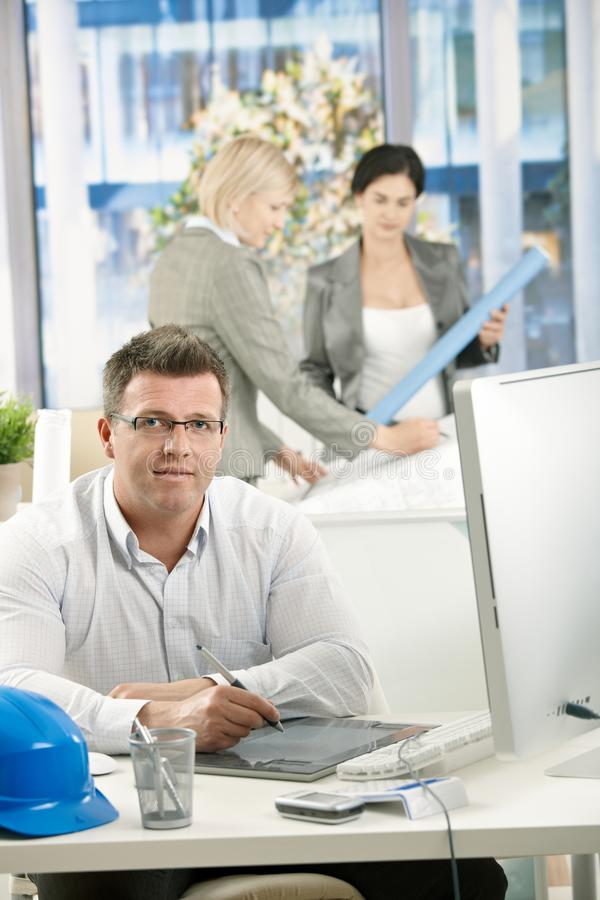Download Architect in office stock photo. Image of desktop, coworkers - 23095886
