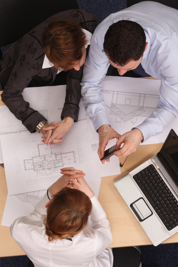 Architect office royalty free stock images