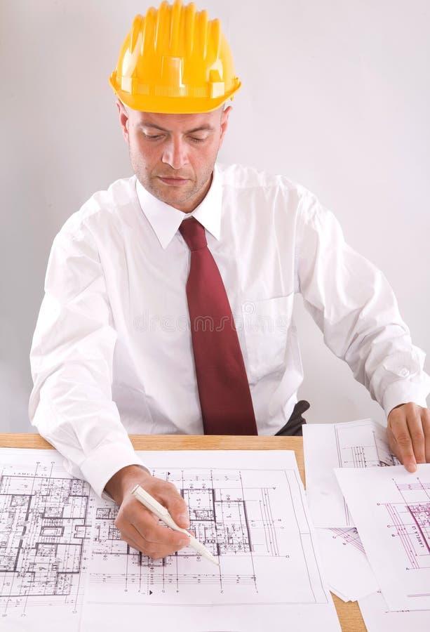 Architect op het werk stock foto