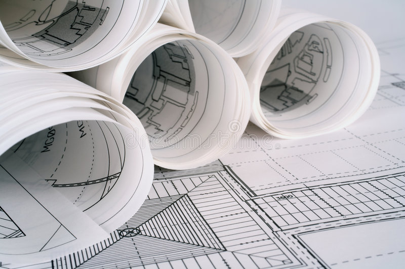 Download Architect Plans Stock Image - Image: 2287151