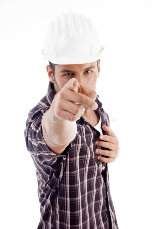 Architect Pointing At Camera Stock Photography