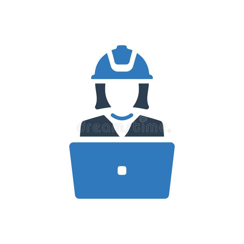 Architect project making icon vector illustration