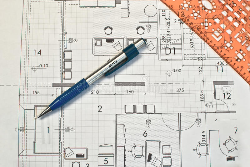 Download Architect Rolls And Plans Stock Image - Image: 25515171