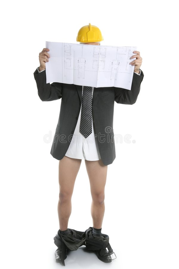 Download Architect Scared By Bad News Report Stock Image - Image: 8998019