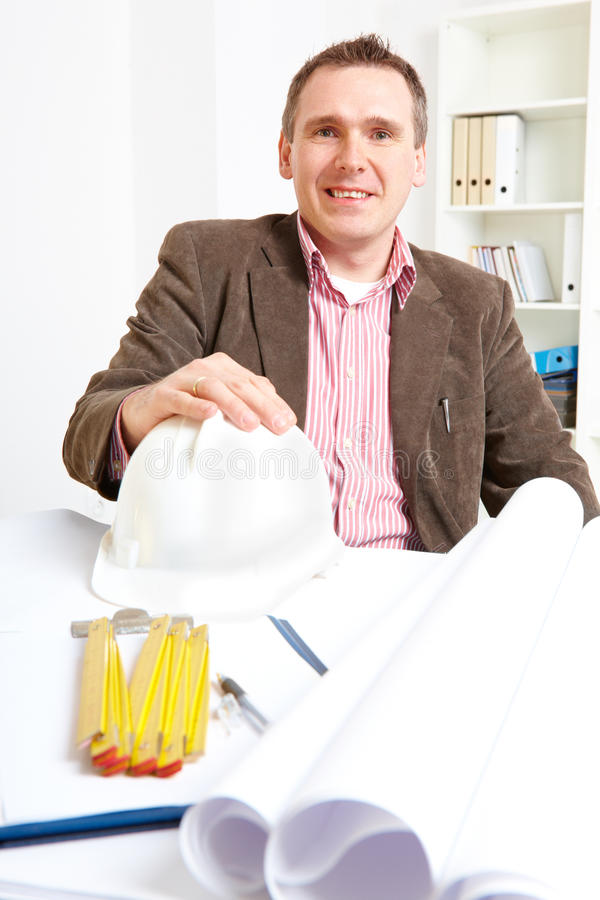 Download Architect Sitting In Office Royalty Free Stock Photography - Image: 19797387