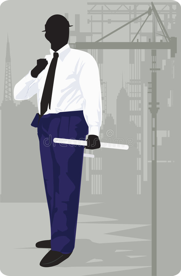 An architect standing royalty free illustration