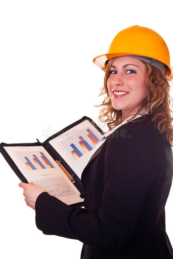 Download Architect Woman And Statistics Stock Photo - Image: 13982488