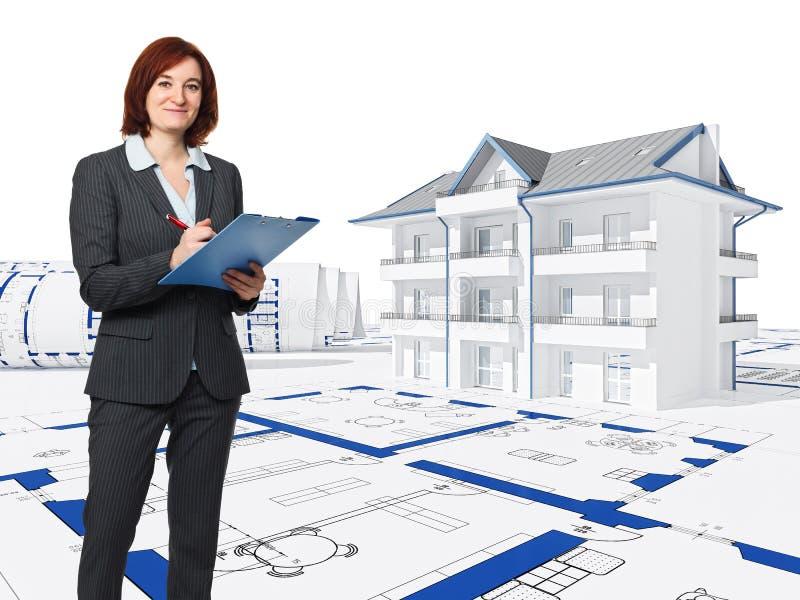 architect at work stock illustration  illustration of background