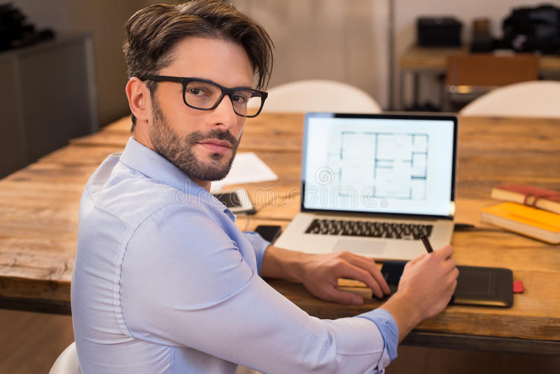 Architect at work royalty free stock photography