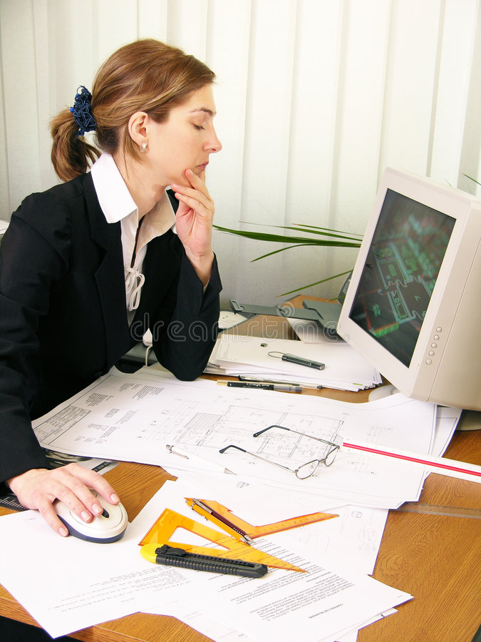 Download Architect Working 4 Stock Photo - Image: 81880