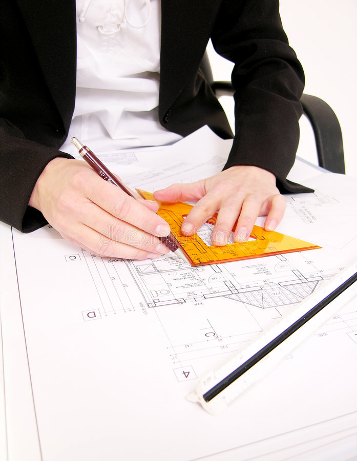 Architect working stock images