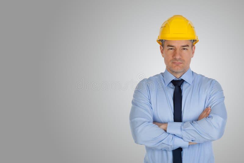 Architecte avec des mains pli?es photo stock