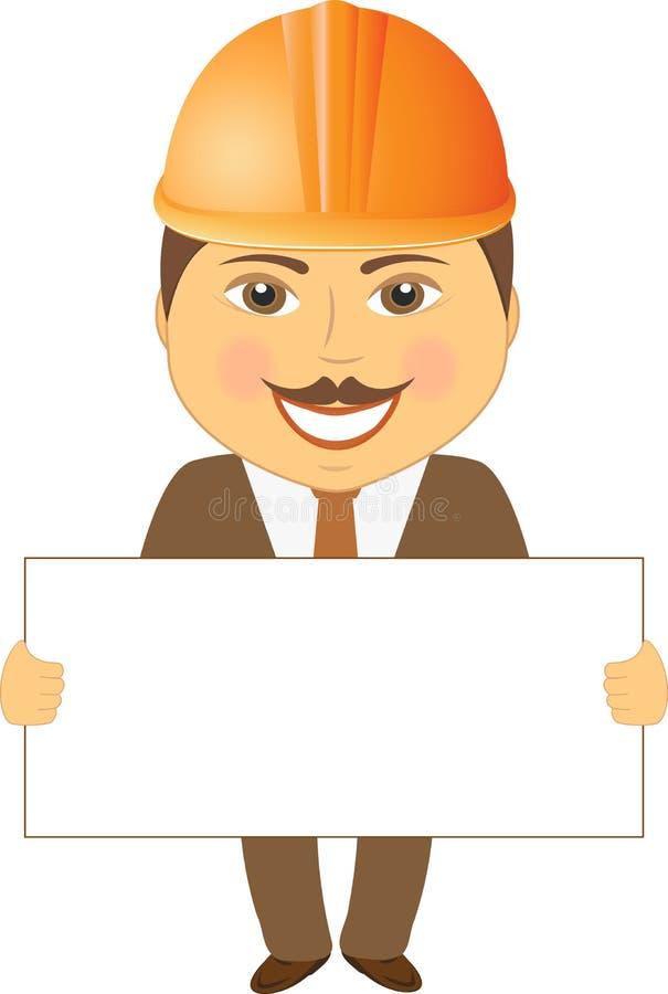 Architecte avec l'affiche illustration stock