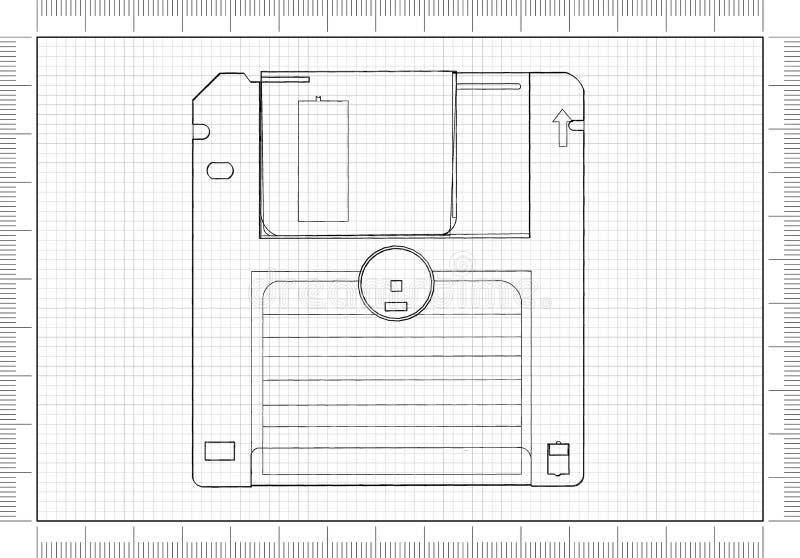Architecte Blueprint illustration libre de droits