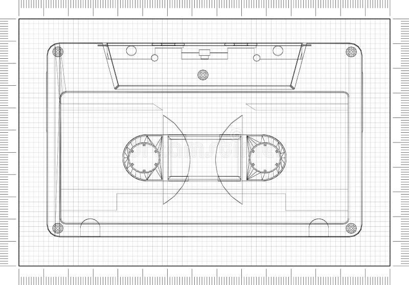 Architecte Blueprint illustration de vecteur