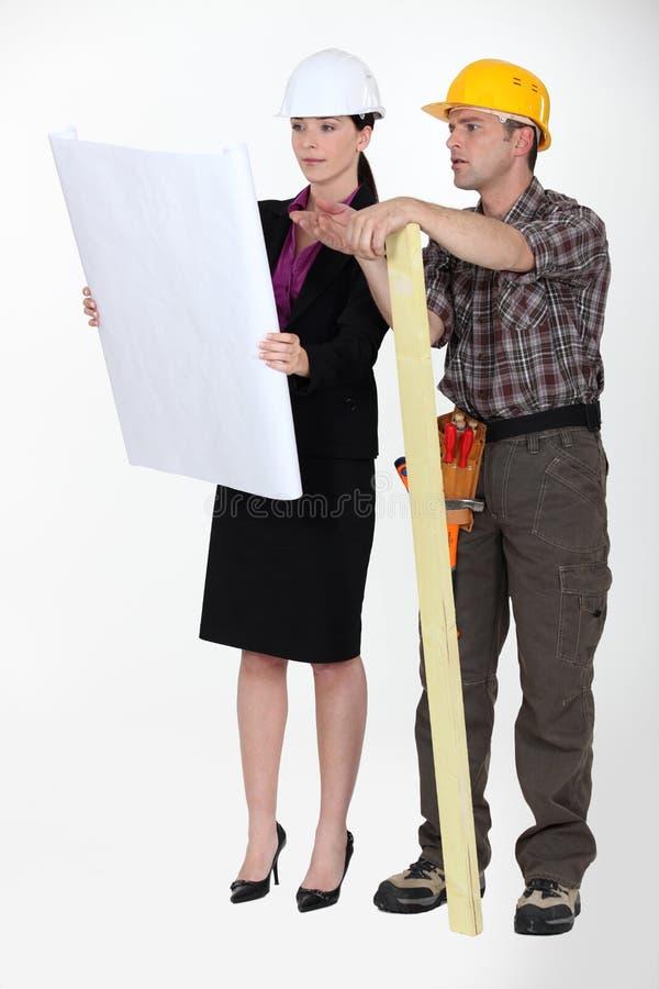 Architecte et constructeur photos stock