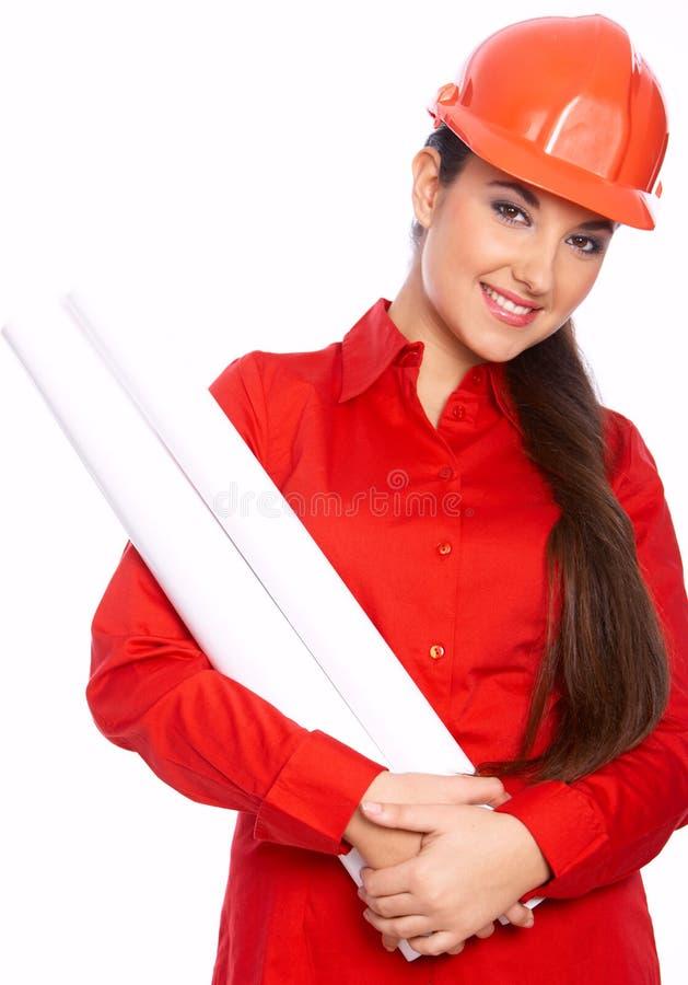Architecte féminin image stock