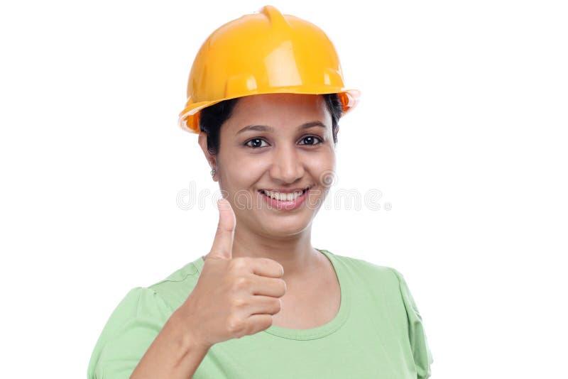 Architecte féminin de sourire photo stock