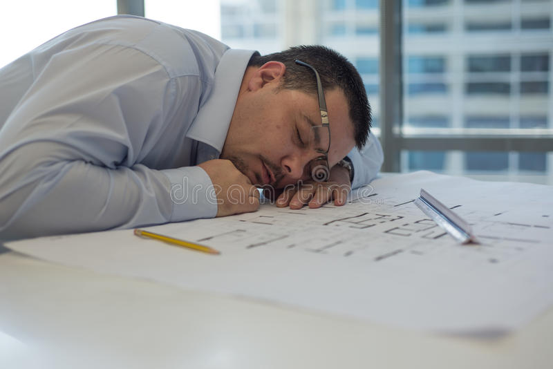 Architecte Sleeping photo stock