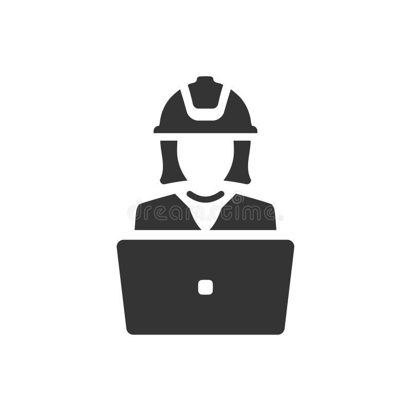 Architectenproject die pictogram maken vector illustratie
