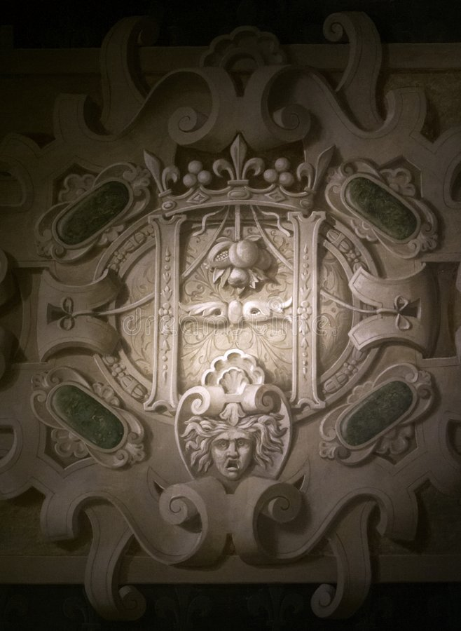Architectonic detail. An architectonic detail, Blois castle, France stock image