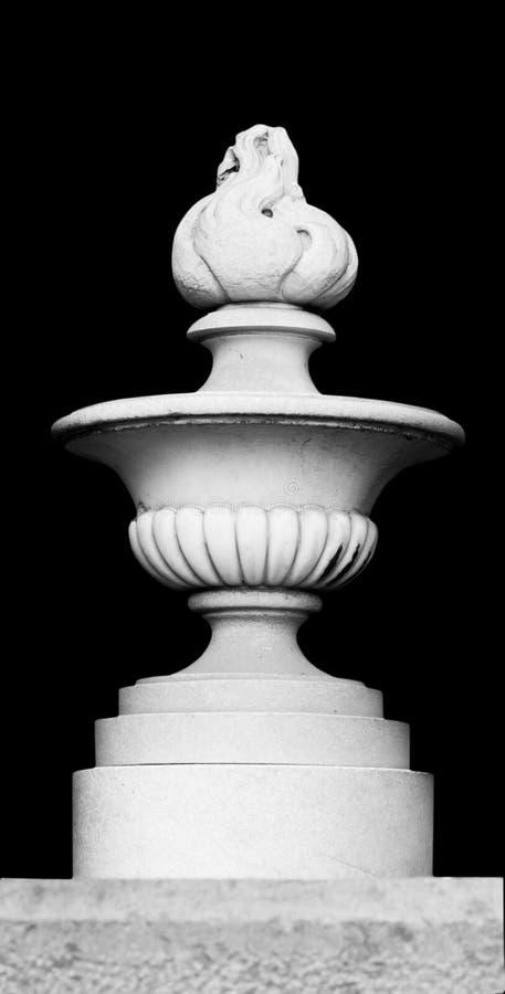Architectonic flame decoration on a black background royalty free stock image