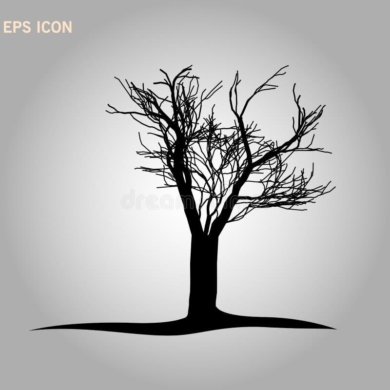 Architectonics de la corona del arce de Noruega La estructura de las ramas de árbol y del tronco de una forma rectangular Gr?fico ilustración del vector
