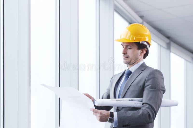 Architector in bouwvakker royalty-vrije stock afbeelding