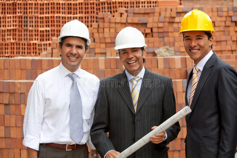 Download Architects At A Construction Site Stock Photo - Image of plans, colleagues: 25291260