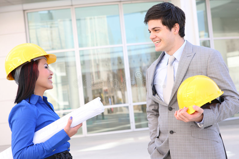 Download Architects On Construction Site Stock Photo - Image of diversity, ethnic: 8516684