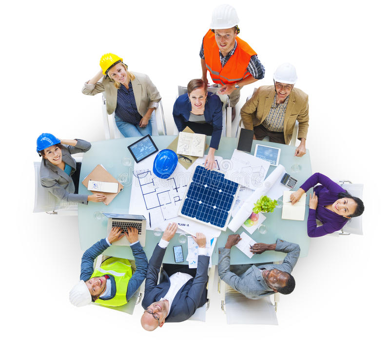 Architects and Designers Working in the Office stock photography