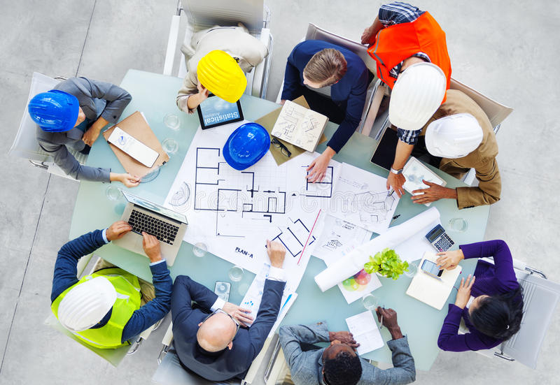 Architects and Designers Working in the Office royalty free stock photo