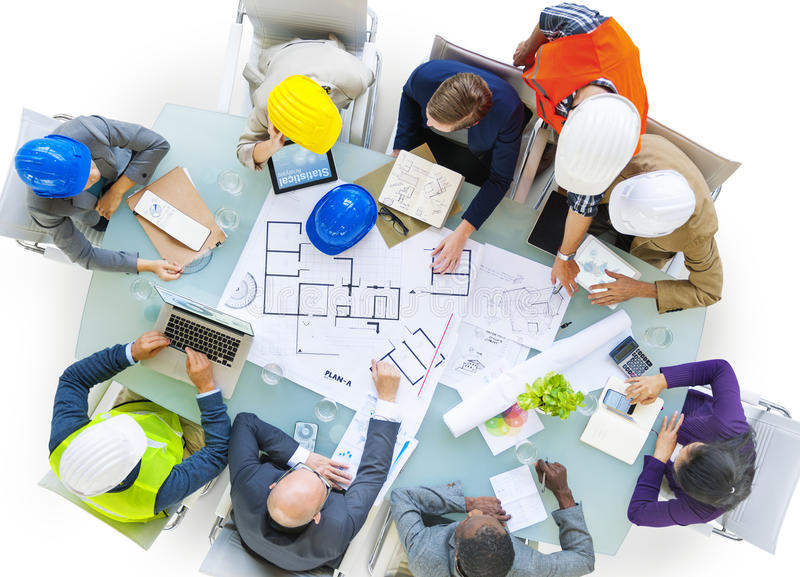Architects and Designers Working in the Office royalty free stock images
