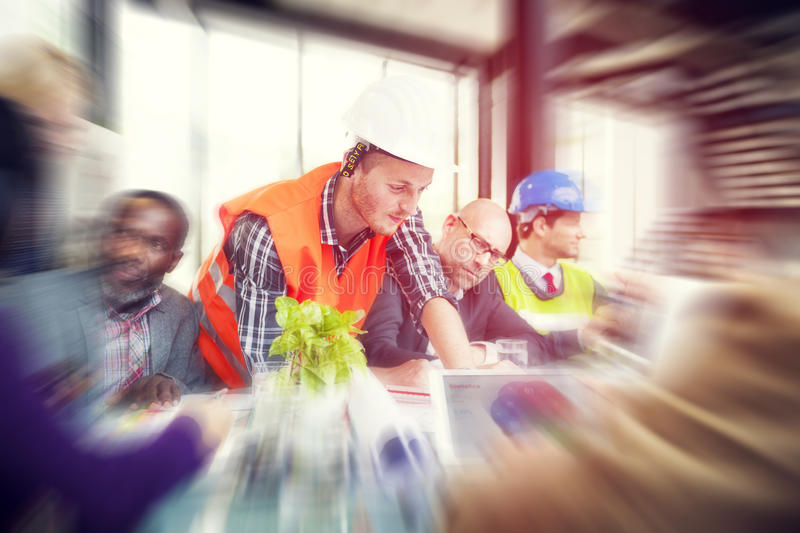 Architects and Designers Working in the Office royalty free stock photography