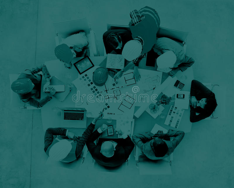 Architects and Designers Working in the Office Concept royalty free stock photography