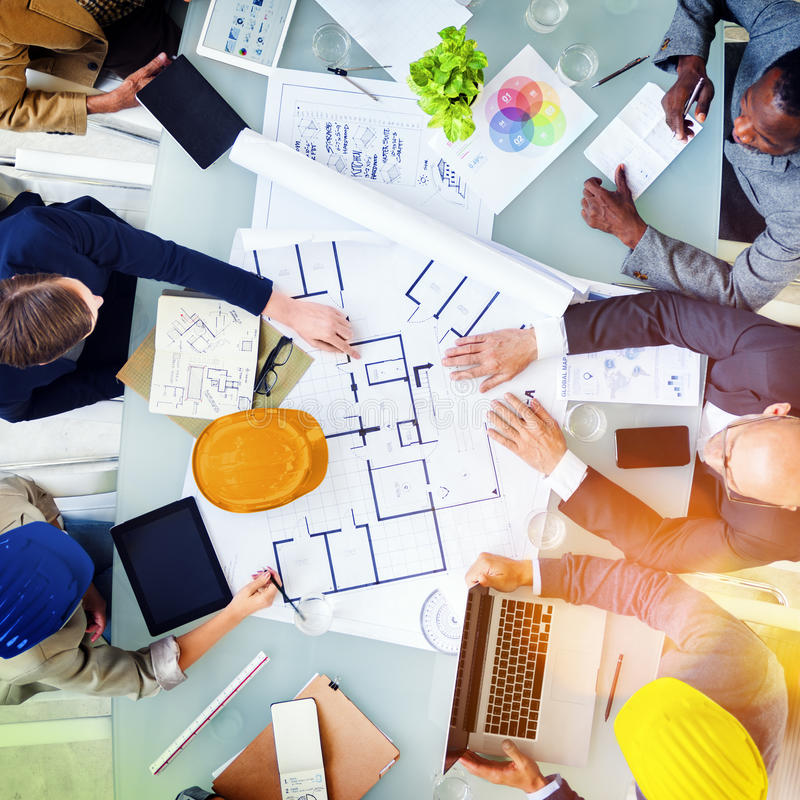Architects and Designers Working in the Office Concept royalty free stock images