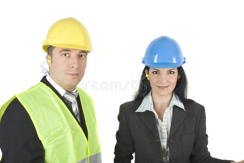 Download Architects in hard hats stock image. Image of house, suit - 7878267