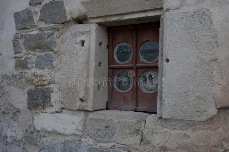 Window in the fortress in the city of Kamyanets-Podilsky is a city that has kept the spirit of the Middle Ages stock photography