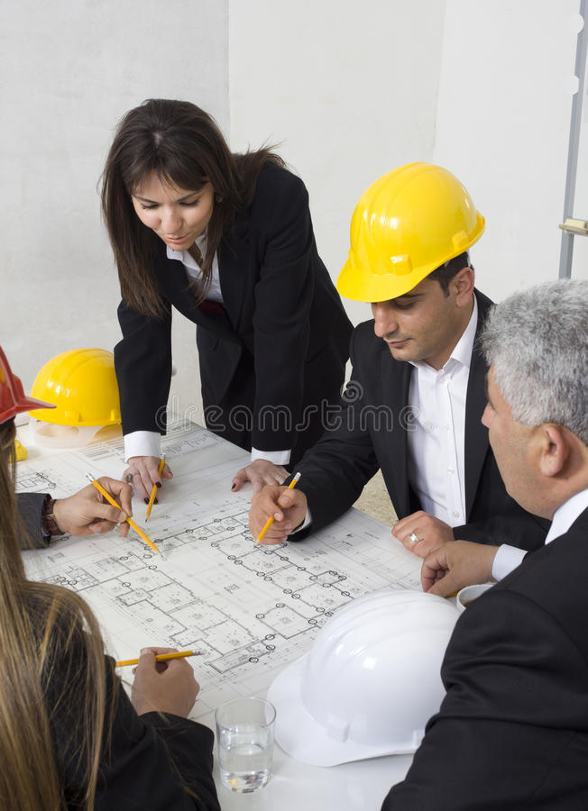 Architects royalty free stock image